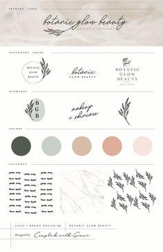 Feminine and Natural Logo Design for a Botanic Based Makeup Artist and Arbonne C. Brand Identity Design, Brand Design, Web Design, Jewelry Branding, Inspiration Logo Design, Artist Branding, Organic Brand, Arbonne Consultant, Identity Design