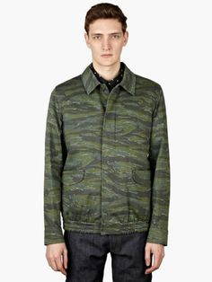 Redchurch Camo Jacket is the latest addition to the mesmerizing camo jacket series by the infamous French brand. Camo Jacket, French Brands, Apc, High Fashion, Street Wear, Winter Jackets, Menswear, Style, Winter Coats