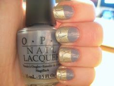 OPI I Don't Give a Rotterdam plus Gold Crackle