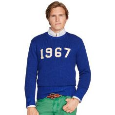 New #POLO Fall Arrivals: This vintage crewneck sweater honors the year Ralph Lauren was founded