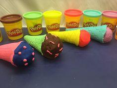 ألعاب ملتينة أيس كريم مصنوعة بالصلصال المعجون Play Doh Ice Cream Cone