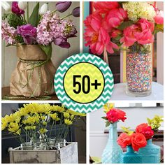 Over 50 DIY centerpieces to make for #wedding #decor #parties and more.  BUDGET friendly!  @savedbyloves