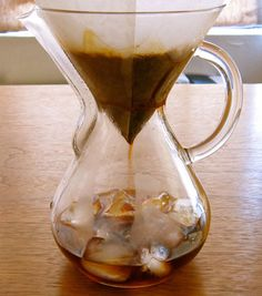 Ristretto- On the Rocks By OLIVER STRAND  ...brewing onto ice Lol, wherever java junkies gather there are lots of opinions about how to do it!