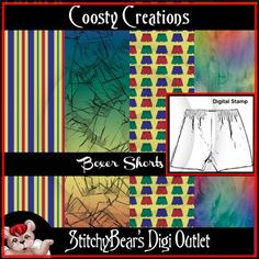 Boxer Shorts Digital Stamp and Paper Pack
