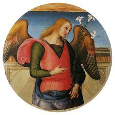 IL PERUGINO - Angelo annunciante Polittico di Sant'Agostino - 1506-10 - olio su tavola - Galleria Nazionale dell'Umbria, Perugia