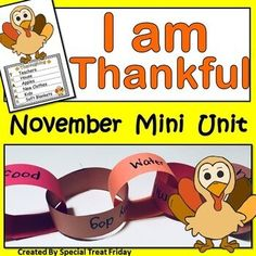 Thanksgiving and November Mini Unit