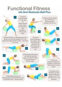 Fit in 10 Minuten! Functional Training mit dem Redondo Plus Fitness Workouts, Gym Workout Tips, Ab Workout At Home, Pilates Workout, At Home Workouts, Fitness Tips, Ball Workouts, Pilates Plus, 30 Day Yoga