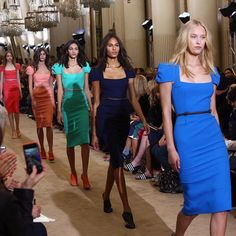 10th anniversary of the ICONIC Galaxy dress. @roland_mouret fashion show in Paris.