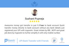 Thanks for your review Sushant. We are glad you liked our app! Keep sharing with friends. Let us make your daily payments fun and extremely simple :)