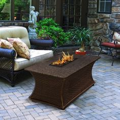 Rectangle Black Mahogany Granite Top Fire Pit - Santa Cruz https://www.studio9furniture.com/outdoor/fire-pits-bowls-glass/high-quality-fire-pits-fire-pit-tables/santa-cruz-rectangle-black-mahogany-granite-top  This fire pit is made to make your friends and guests feel at home. Have a glass of wire and feel the warmth of friendships.