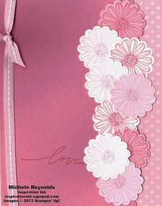 Best of Flowers Cascading Pink Daisies by Michelerey - Cards and Paper Crafts at Splitcoaststampers