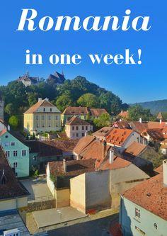 How to spend 1 week in Romania ***** Romania | Romania Travel | Transylvania | Bucharest | Dracula | Castles | Eastern Europe | Backpacking Romania |