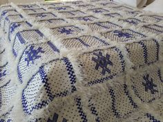 "118""X83"" Moroccan wedding blanket wool  / Moroccan interior design / Handira wedding blanket"