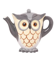I hv started drinking more green tea & hv a small owl mug collections, so i need a Gray Owl Teapot, right? From Zulily