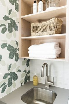 """Find out more information on """"laundry room storage diy shelves"""". Visit our website. Small Shelves, Small Storage, Diy Storage, Storage Ideas, Open Shelves, Storage Spaces, Laundry Room Cabinets, Laundry Room Organization, Laundry Storage"""