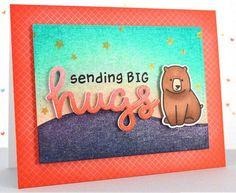 Lawn Fawn Sending big bear hugs card