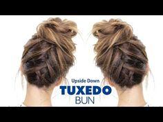 TUXEDO BRAID BUN Hairstyle ★ French Braid Hairstyles - YouTube