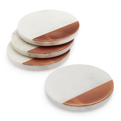Sur La Table White Marble and Rose Gold Coasters, Set of 4 Cute Apartment, Apartment Living, Bride Gifts, Wedding Gifts, Gold Coasters, White Shop, White Marble, Kitchen Decor, Sweet Home