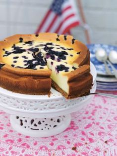 New York blueberry cheesecake /  Leila Lindholm (leila.se)