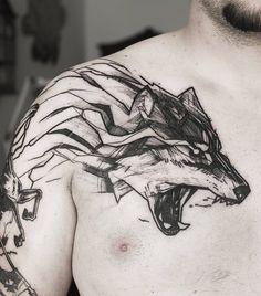 Wolf Tattoos That Take Your Breath Away [Latest 2019 Trends] Mini Tattoos, Black Tattoos, Body Art Tattoos, Small Tattoos, Sleeve Tattoos, Tattoos For Guys, Tribal Wolf Tattoo, Wolf Tattoos, Tatoos