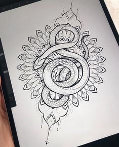 beautiful tattoo : snake with mandala design Mandala Tattoo Design, Tattoo Designs, Henna Designs, 12 Tattoos, Body Art Tattoos, Sleeve Tattoos, Tatoos, Henna Tattoos, Tattoo Sketches