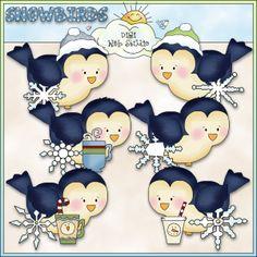 Bitty Birdies Snowbirds 1 - NE Cheryl Seslar Clip Art : Digi Web Studio, Clip Art, Printable Crafts & Digital Scrapbooking!