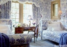 Blue and White Decorating - Blue and White Rooms - House Beautiful