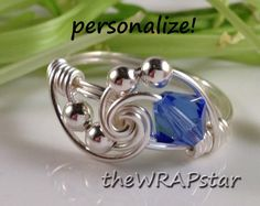 Wire Wrapped Jewelry Wire Wrap Ring Crystal Ring by theWRAPstar, $14.95