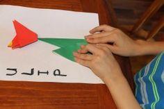 Easy origami tulip activity for older children (ages 7 )