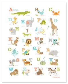 POSTER - Alligator to Zebra Alphabet (16x20 )