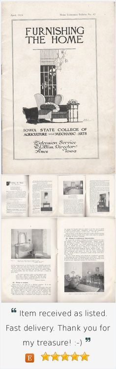 Furnishing the Home April 1924 Iowa State College Home Economics Bulletin No. 42