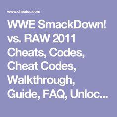 smackdown vs raw 2011 psp cheats codes