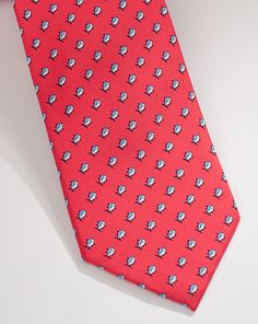 Classic Skipjack Tie in Firecracker.   Also available in Hot Coral, Marina Blue and Mojito