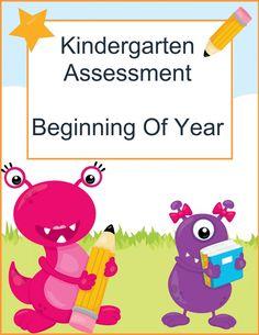 FREE Kindergarten Assessment Pack