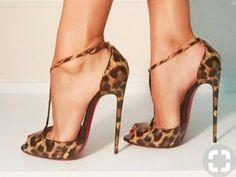 Nice leo high heels - Miladies.net Fab Shoes, High Shoes, Hot High Heels, Pretty Shoes, Me Too Shoes, Shoes Heels, Beautiful High Heels, T Strap Heels, Killer Heels