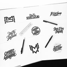 Some recent commissions! I love being a designer  #customtype #customlettering #customtypography #goodtype #thedailytype #type #typism #typegang #typespot #typography #typematters #brushtype #handtype #handdrawn #handmadefont #letters #lettering #letteringdesign #pen #ink #illustration #illustrated #font #design #script #sketch #drawing #thefinelab #todaystype #monogram by illesso_