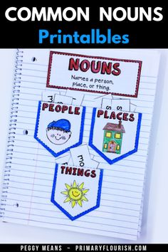 Common Nouns Printables Pack has easy-prep, easy to use printables! You will find everything you need to engage and delight your students as they learn/review common nouns. Perfect for your 1st, 2nd, 3rd grade classroom and home school classroom. #TeachersPayTeachers #grammar #commonnouns #partofspeech Grammar Skills, Teaching Grammar, Teaching Writing, Grammar Activities, Kids Learning Activities, Learning Resources, Grammar Notebook, 3rd Grade Classroom, School Classroom