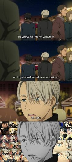 Yuuri, maybe you SHOULD drink before competitions!