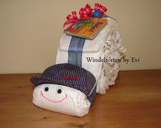 Windelschnecke 'Joey', Windeltorte Junge von Windeltorten By Evi auf DaWanda.com
