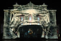 Video Projection Mapping Creates Illusion of Dancing, Singing Building