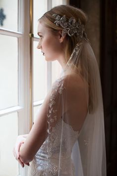 Incredible. That's what goes through my mind every single time I see a new Claire Pettibone wedding gown collection. Her attention to detail and the beautiful lace she uses in creating these utterly mesmerising gowns is impeccable.  The latest collection, inspired by all four seasons will leave you totally breathless too. Today we share 'Winter' and we are spellbound!