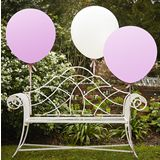 Jättipallot (90 cm) White and Pink 3 kpl | Something Old