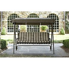 Porch yard swinging chair Swing Chairs, Swinging Chair, Gazebo, Porch, Yard, Outdoor Structures, Furniture, Rocking Chairs, Balcony