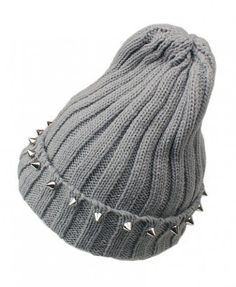 Rivets Embellishment Pointed Top Knit Cap