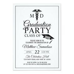 220 Best medical school graduation invitations images in