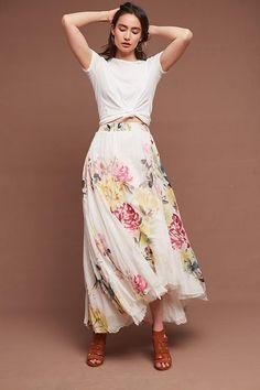 Slide View: 1: Chantilly Maxi Skirt