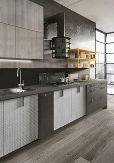 Easily Personalized Loft Kitchen Design In Industrial Style By Snaidero