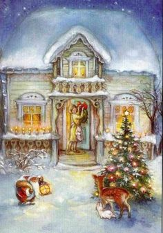Lisi christmas-scenes-christmas-art.jpg (736×1053)