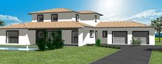Models and plans Houses in France South West - On nearly this . Houses In France, Home Design Plans, House 2, Eos, Modern House Design, Home Projects, Facade, House Plans, Sweet Home