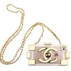 Gold Electroplated Chanel transparent TPU case for iPhone 5S with the same color fashion Chain. Only $20.98 on http://www.alfreeshipping.com
